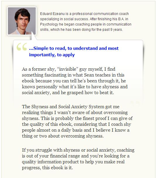 The Shyness and Social Anxiety System Reviewer - Edward Ezeanu