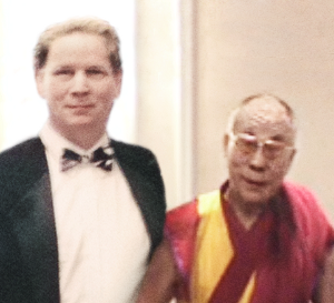 Mike Evans creator of The Abundance Code with The Dalai Lama